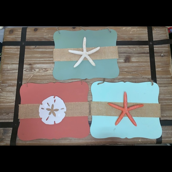 Other - NEW** Three beach themed hanging signs